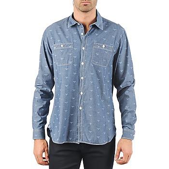 Oblečenie Muži Košele s dlhým rukávom Barbour LAWSON Modrá