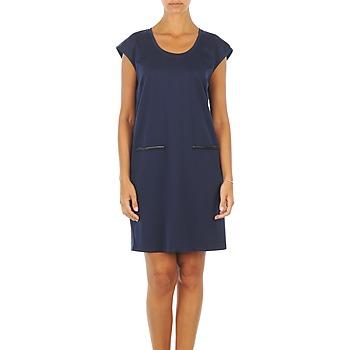 Oblečenie Ženy Krátke šaty Vero Moda CELINA S/L SHORT DRESS Námornícka modrá