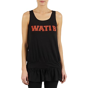 Oblečenie Ženy Tielka a tričká bez rukávov Wati B TUNIQ Čierna