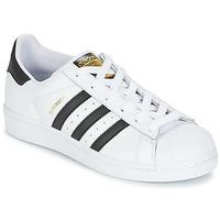 Topánky Deti Nízke tenisky adidas Originals SUPERSTAR Biela / Čierna