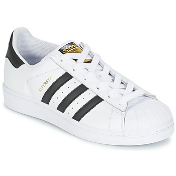 Topánky Deti Nízke tenisky adidas Originals SUPERSTAR Biela