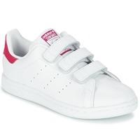 Topánky Dievčatá Nízke tenisky adidas Originals STAN SMITH CF C Biela