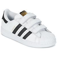 Topánky Chlapci Nízke tenisky adidas Originals SUPERSTAR FOUNDATIO Biela / čierna