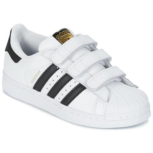 Topánky Deti Nízke tenisky adidas Originals SUPERSTAR FOUNDATIO Biela / Čierna