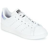 Topánky Dievčatá Nízke tenisky adidas Originals STAN SMITH J Biela