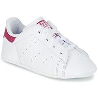 Topánky Dievčatá Nízke tenisky adidas Originals STAN SMITH CRIB Biela / Ružová