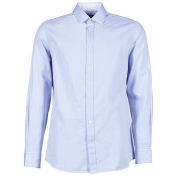 Oblečenie Muži Košele s dlhým rukávom Hackett SQUARE TEXT MUTLI Modrá