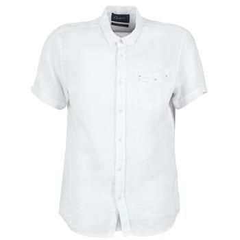 Oblečenie Muži Košele s krátkym rukávom Chevignon C-LINEN Biela