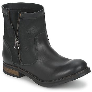 Topánky Ženy Polokozačky Casual Attitude ISPINI Čierna