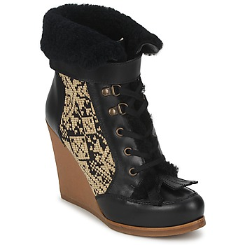 Topánky Ženy Čižmičky Etro DENISE čierna / Béžová