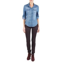Oblečenie Ženy Džínsy Slim Replay LUZ Fialová