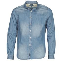 Oblečenie Muži Košele s dlhým rukávom Façonnable PLUSAMO Modrá