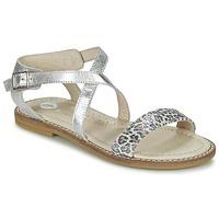 Topánky Dievčatá Sandále Garvalin COSMOS Strieborná
