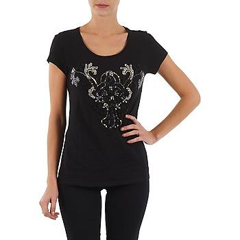 Oblečenie Ženy Tričká s krátkym rukávom S.Oliver T-SHIRT MANCHES COUR čierna