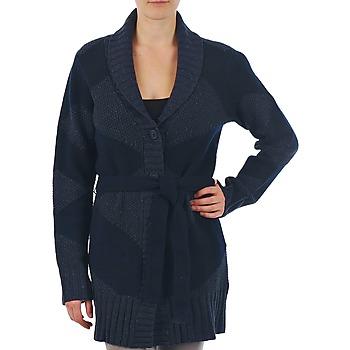 Oblečenie Ženy Cardigany Gant N.Y. DIAMOND SHAWL COLLAR CARDIGAN Námornícka modrá