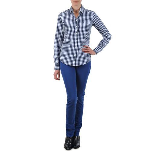 952dd0fc7049 Gant N.Y. KATE COLORFUL TWILL PANT Modrá - Bezplatné doručenie so ...