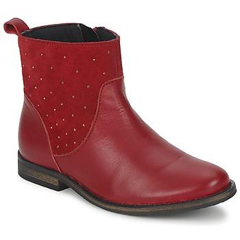 Topánky Dievčatá Polokozačky Citrouille et Compagnie BELFINE červená