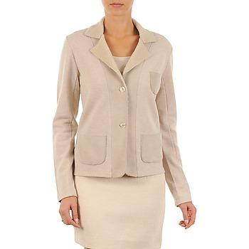 Oblečenie Ženy Saká a blejzre Majestic 244 Béžová
