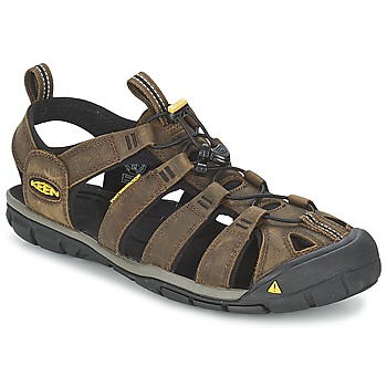 Topánky Muži Športové sandále Keen CLEARWATER CNX LEATHER Hnedá / Čierna