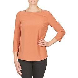 Oblečenie Ženy Tričká s dlhým rukávom Color Block 3214723 Koralová