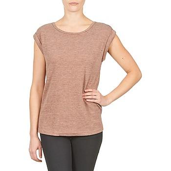 Oblečenie Ženy Tričká s krátkym rukávom Color Block 3203417 Old / Ružová / Frkaná / Šedá