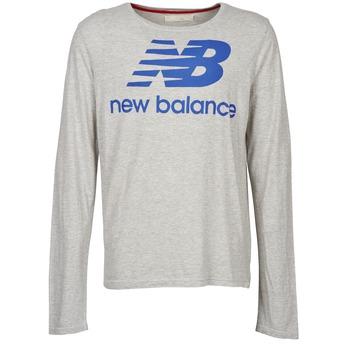 Oblečenie Muži Tričká s dlhým rukávom New Balance NBSS1403 LONG SLEEVE TEE šedá