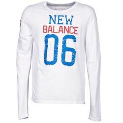 Oblečenie Muži Tričká s dlhým rukávom New Balance NBSS1404 GRAPHIC LONG SLEEVE TEE Biela