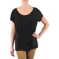 Oblečenie Ženy Tričká s krátkym rukávom La City MC NOIR Čierna
