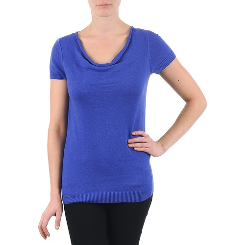 Oblečenie Ženy Tričká s krátkym rukávom La City PULL COL BEB Modrá