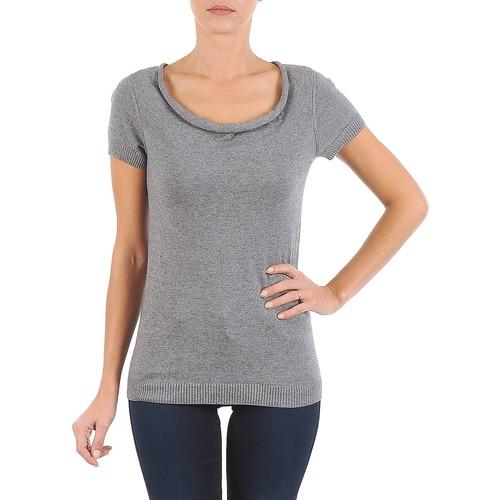 Oblečenie Ženy Tričká s krátkym rukávom La City PULL COL BEB Šedá