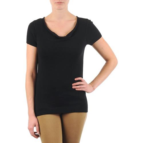 Oblečenie Ženy Tričká s krátkym rukávom La City PULL COL BEB Čierna