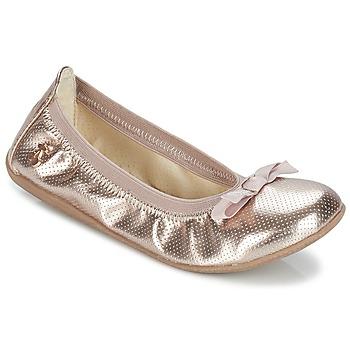 Topánky Dievčatá Balerínky a babies Le Temps des Cerises LILOU Zlatá