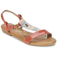 Topánky Ženy Sandále Le Temps des Cerises CARLY CORAIL Koralová