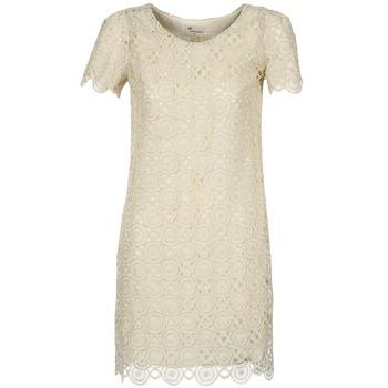 Oblečenie Ženy Krátke šaty Stella Forest ARO051 Krémová / Zlatá