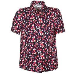 Oblečenie Ženy Košele s krátkym rukávom American Retro NEOSHIRT Čierna / Ružová / Oranžová