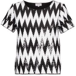 Oblečenie Ženy Tričká s krátkym rukávom American Retro GEGE Čierna / Biela