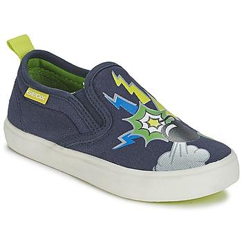 Topánky Chlapci Slip-on Geox KIWI B. D Modrá / Zelená