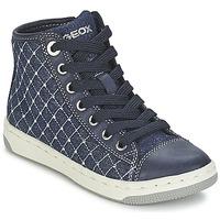 Topánky Dievčatá Členkové tenisky Geox CREAMY B Námornícka modrá