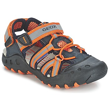 Topánky Chlapci Športové sandále Geox SAND.KYLE C Námornícka modrá / Oranžová
