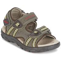 Topánky Chlapci Športové sandále Geox S.STRADA A Hnedá / Okrová-svetlá hnedá