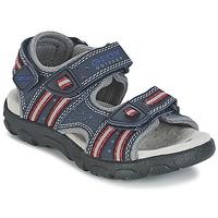 Topánky Dievčatá Športové sandále Geox S.STRADA A Námornícka modrá / červená