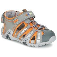Topánky Chlapci Športové sandále Geox SANDAL KRAZE B šedá / Oranžová
