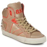 Topánky Ženy Členkové tenisky Ash SPIRIT Béžová / Zlatá / Oranžová