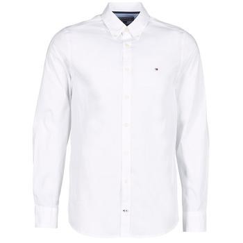 Oblečenie Muži Košele s dlhým rukávom Tommy Hilfiger STRETCH POPLIN Biela