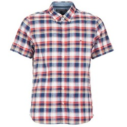 Oblečenie Muži Košele s krátkym rukávom Tommy Hilfiger FRENCH CHK Námornícka modrá / Červená