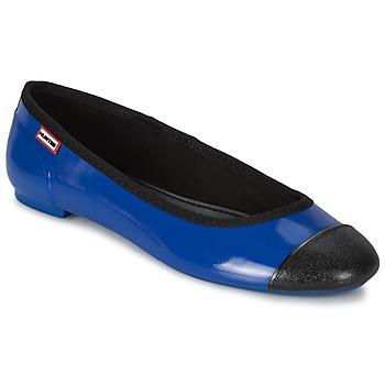 Topánky Ženy Balerínky a babies Hunter ORIGINAL BALLET FLAT Modrá kobaltová