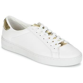 Topánky Ženy Nízke tenisky MICHAEL Michael Kors IRVING Biela / Zlatá