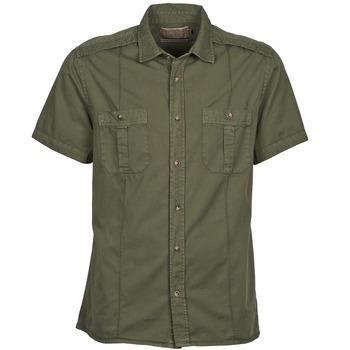 Oblečenie Muži Košele s krátkym rukávom Chevignon C MILITARY TWIL Zelená