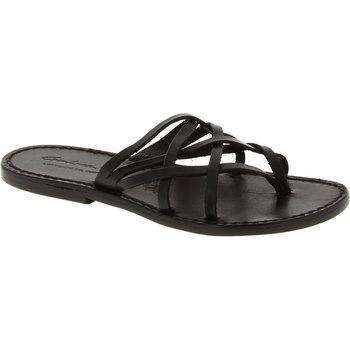 Topánky Ženy Sandále Gianluca - L'artigiano Del Cuoio 543 D NERO CUOIO nero