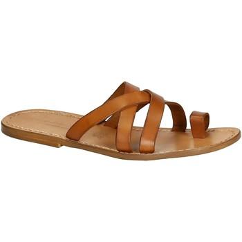 Topánky Muži Sandále Gianluca - L'artigiano Del Cuoio 549 U CUOIO CUOIO Cuoio